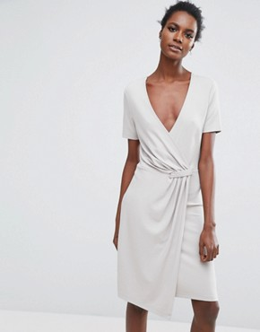 photo Twist Dress by Selected, color Dove - Image 1