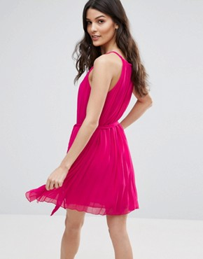photo Pleated Dress with Keyhole Dress by Jasmine, color Pink - Image 2