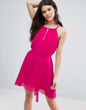 photo Pleated Dress with Keyhole Dress by Jasmine, color Pink - Image 1