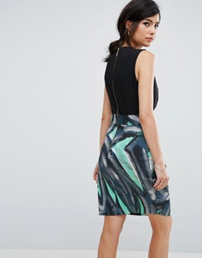 photo Dress with Graphic Print Skirt by Closet London, color Blue - Image 2