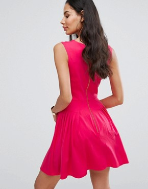 photo Skater Dress with Pintucks by Closet London, color Pink - Image 2