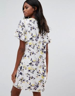 photo Floral Smock Dress by Vila, color Cloud Dancer - Image 2