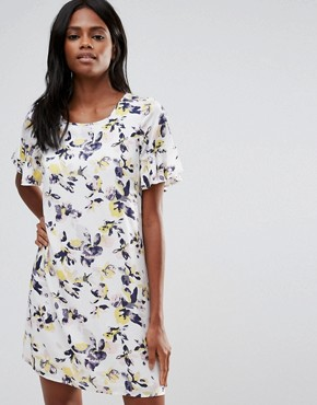 photo Floral Smock Dress by Vila, color Cloud Dancer - Image 1