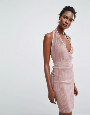 photo Halterneck Dress by Wal G, color Rose - Image 1