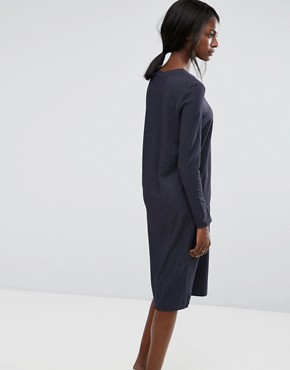 photo Pinstripe Dress by Selected, color Navy Blazer - Image 2