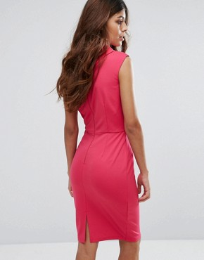 photo Pink High Neck Dress by Paper Dolls, color Pink - Image 2