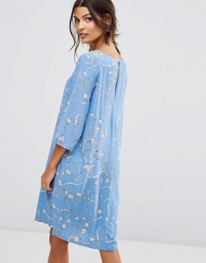 photo Printed Shift Dress by Selected, color Aop Allure - Image 2