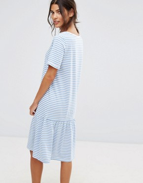 photo Jersey Stripe Dress by Selected, color White Blue - Image 2