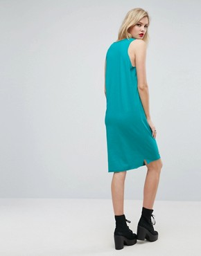 photo Midi Vest Dress with Eyelet Detail and Rock Print by ASOS TALL, color Multi - Image 2