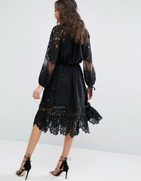 photo Patti Lace Midi Dress by Stevie May, color Black - Image 2