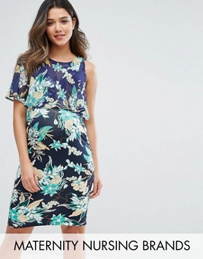 photo Printed Double Layer Dress by Gebe Maternity Nursing, color Multi - Image 1