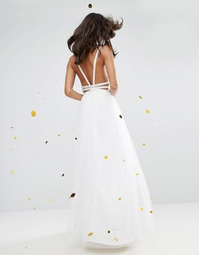 photo Tulle Maxi Prom Dress by ASOS BRIDAL, color Cream - Image 2