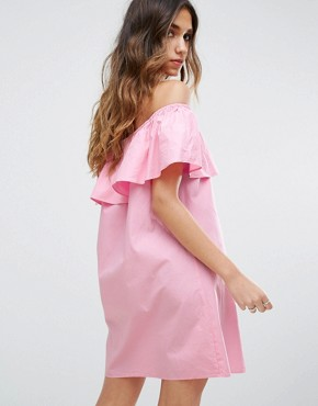 photo Bardot Ruffle Summer Dress by Pimkie, color Pink - Image 2