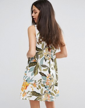 photo Tropical Garden Swing Dress by Warehouse, color Cream - Image 2