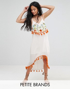 photo Embroidered Midi Dress by Glamorous Petite, color Multi - Image 1