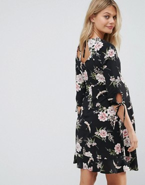 photo Printed Drop Frill Dress by New Look Maternity, color Multi - Image 2