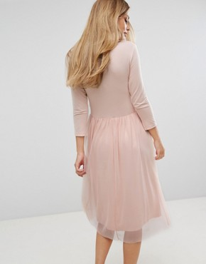 photo Wrap Tulle Skirt Dress by Vero Moda, color Pink - Image 2