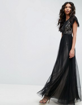 photo Primrose Lace Bodice Gown by Needle & Thread, color Black - Image 1