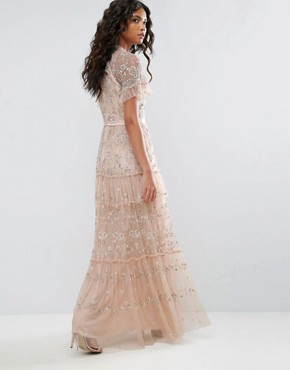 photo Constellation Lace Gown by Needle & Thread, color Petal Pink - Image 2