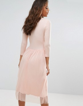 photo Wrap Tulle Skirt Dress by Vero Moda Tall, color Pink - Image 2