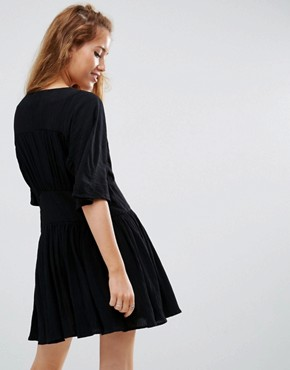 photo Casual Tea Dress by ASOS PETITE, color Black - Image 2