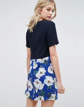 photo Floral Shift Dress by Oasis, color Multi - Image 2