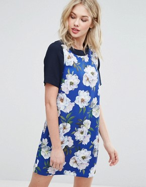 photo Floral Shift Dress by Oasis, color Multi - Image 1