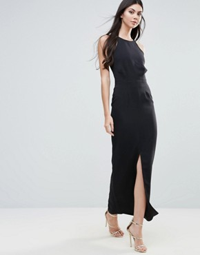 photo Maxi Dress with Strappy Back by Lavish Alice, color Black - Image 2