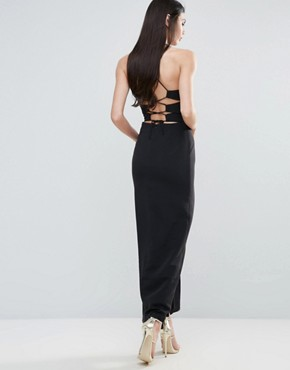 photo Maxi Dress with Strappy Back by Lavish Alice, color Black - Image 1