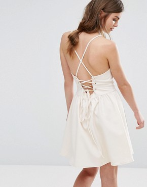 photo Cami Prom Dress by Oeuvre, color Beige - Image 2