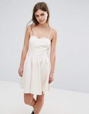 photo Cami Prom Dress by Oeuvre, color Beige - Image 1