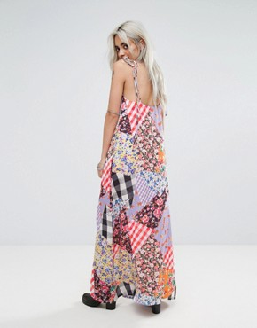 photo Mix Print Maxi with Bow Tie Shoulder Detail by Jaded London Petite, color Multi - Image 2