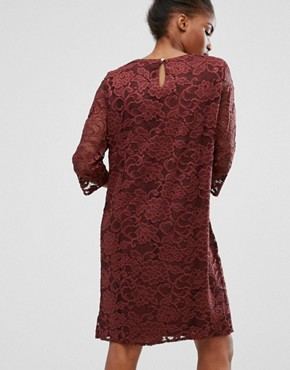 photo Lace Dress by b.Young, color Dark Maroon - Image 2