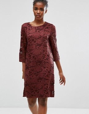 photo Lace Dress by b.Young, color Dark Maroon - Image 1