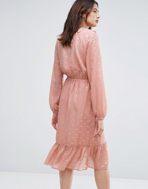 photo Spot Ruffle Wrap Dress by Y.A.S Tall, color Rose - Image 2