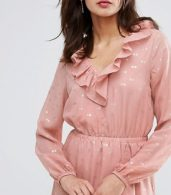 photo Spot Ruffle Wrap Dress by Y.A.S Tall, color Rose - Image 3