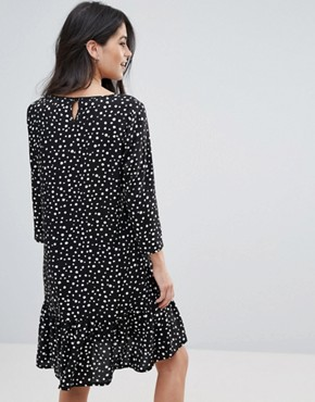 photo Friis Drop Hem Frill Dress by Only, color Aop Uneven Dots - Image 2