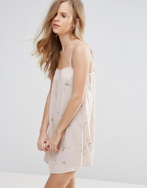 photo Floral Print Cami Dress by Pull&Bear, color Stone - Image 1