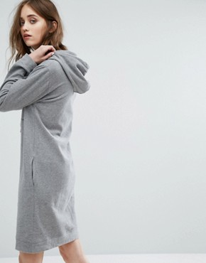 photo Logo Sweater Dress with Hood by Calvin Klein Jeans, color Mid Grey - Image 2