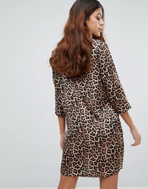 photo Leopard Print Shift Dress by Vero Moda, color Leopard Print - Image 2