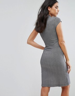 photo Miniture Tile Print D-Ring Dress by Liquorish, color Grey - Image 2