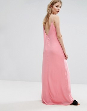 photo Slinky Cami Maxi Dress by Vila, color Pink - Image 2