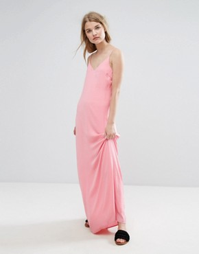 photo Slinky Cami Maxi Dress by Vila, color Pink - Image 1