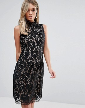 photo Lace Bodycon Dress by Oh My Love, color Multi - Image 2