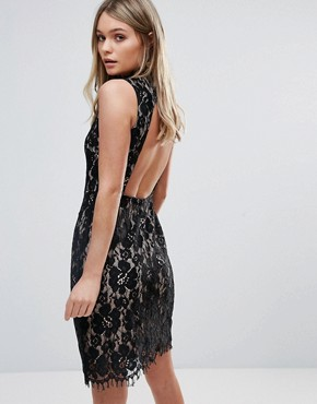 photo Lace Bodycon Dress by Oh My Love, color Multi - Image 1