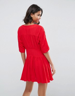 photo Casual Tea Dress by ASOS, color Red - Image 2