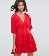 photo Casual Tea Dress by ASOS, color Red - Image 1