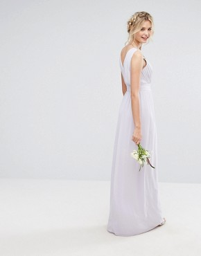 photo Wrap Front Maxi Dress with Embellishment by TFNC Tall WEDDING, color Lilac - Image 2