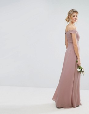 photo Cold Shoulder Embellished Maxi Dress by TFNC Tall WEDDING, color Mauve - Image 2