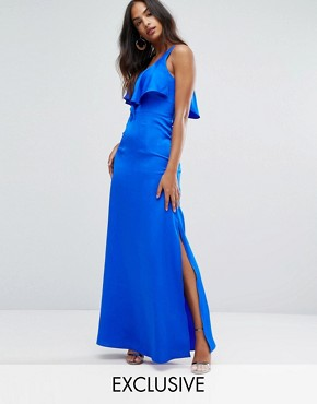 photo Cami Maxi Dress with Frill Front by Bariano, color Cobalt - Image 1